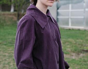 Purple Silk Coat