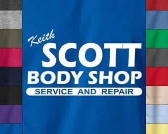 One Tree Hill Keith SCOTT BODY SHOP Soft Ringspun Cotton Tshirt Car Guy Mechanic