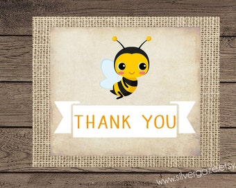 Bumble Bee thank you note card, _131