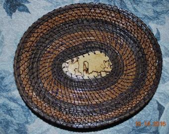 Pine Needle Basket Smokey Violet