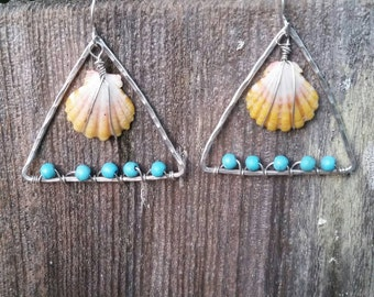 Sunrise Shell Earring (sterling silver)