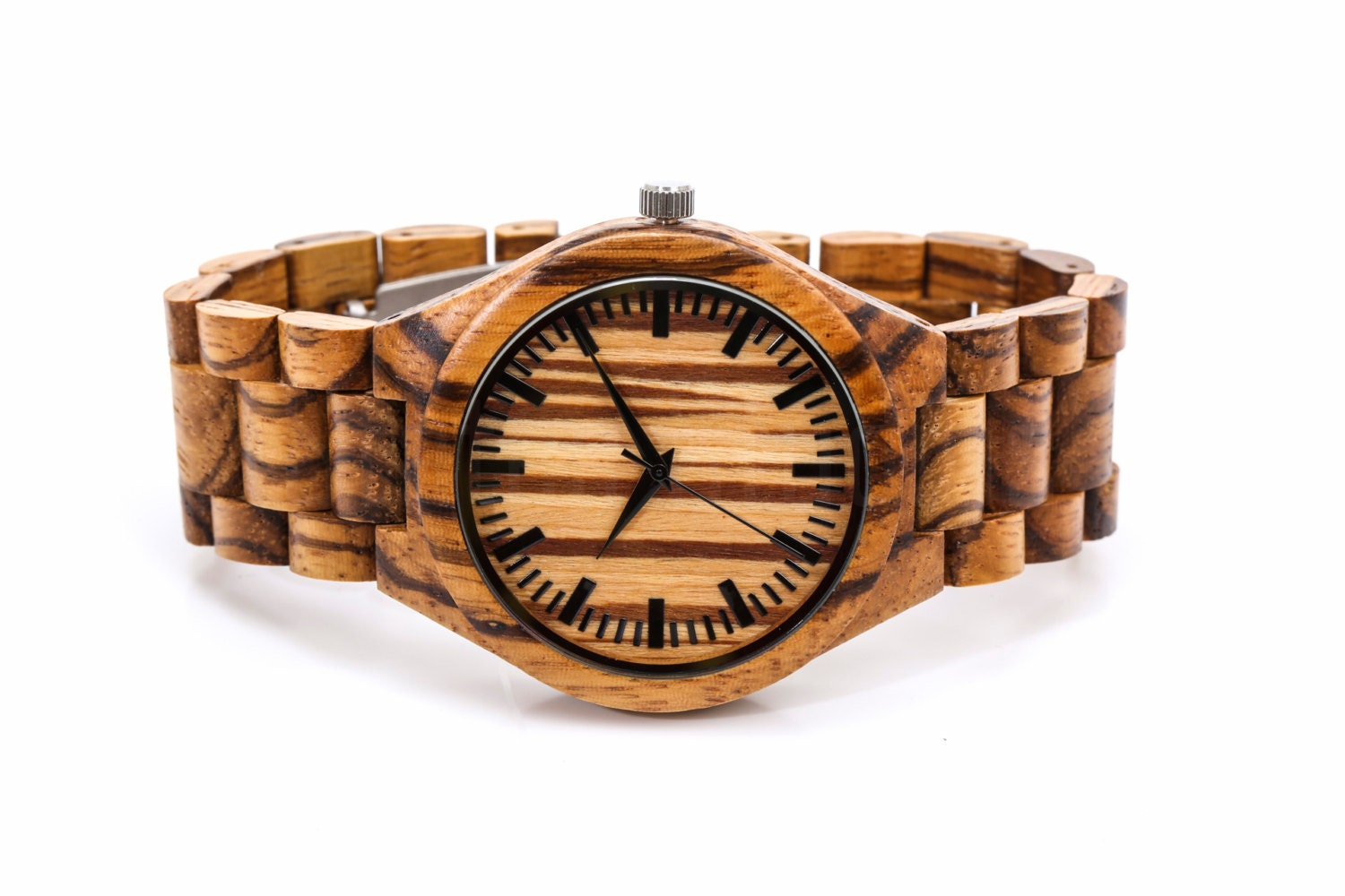 Engraved wooden watch custom fathers day gift mens watches for Watches engraved