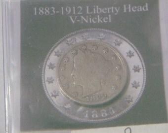 1899 Liberty Head V-Nickle/ History Dates of V Nickle