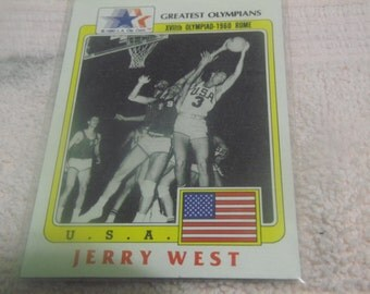 1983 Jerry West Greatest Olympian Card #91