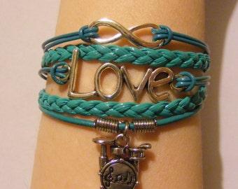 Drum bracelet, drum jewelry, music bracelet, music jewelry, drummer bracelet, drummer jewelry, fashion bracelet, fashion jewelry