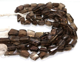Natural Smokey Quartz Faceted Tumble Shape Beads 10''Inch Good Quality On Wholesale Price.