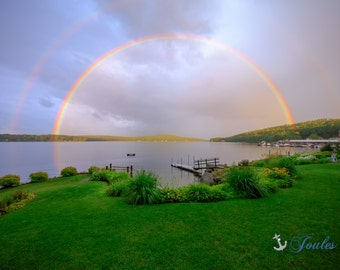 Limited Edition ~ A Dream Come True ~ Church Landing ~ Lake Winnipesaukee, Meredith, New Hampshire, Fine Art Canvas, New England, Rainbows