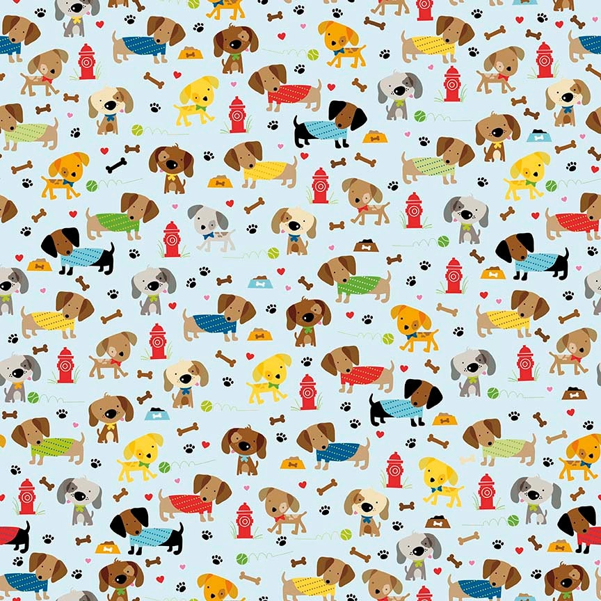 Dog fabric dachshund fabric childrens fabric rover dog for Kids fabric by the yard