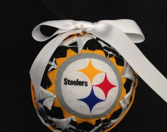 """Pittsburgh """"Steelers"""" Quilted Ornament"""