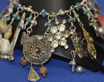 Sterling silver junk bracelet