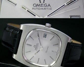 1973s Vintage Swiss OMEGA Seamaster 1012 Automatic Quick Date Steel Mens Watch - 11486