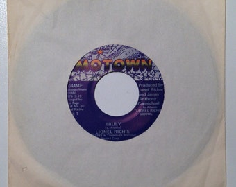 Lionel Richie Truly and Just Put Some Love In Your Heart Vintage Vinyl 45 Record Album 1982