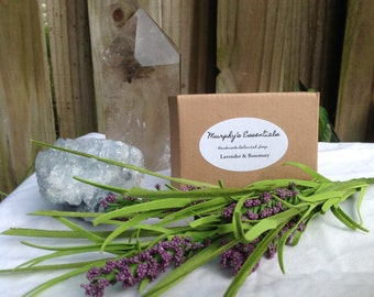 Organic Handmade Lavender and Rosemary Essential Oil Soap