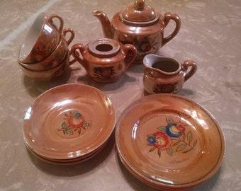 SALE!!!  Vintage Child's  Tea Set Pieces 13 pcs  SALE!!  was 19.50   now  15.50