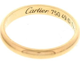 Cartier 18k Rose Gold Band Ring