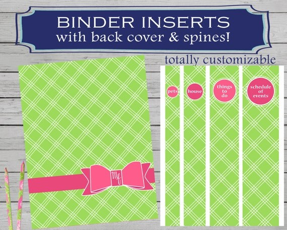 Adorable image with regard to printable binder spine inserts