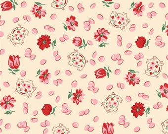 Spring Showers Pink Piggies from Wilmington Prints by the yard