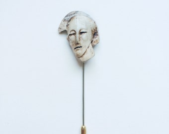 Porcelain Face Pin 3