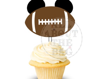 Instant download: Mickey Mouse Football Cupcake toppers