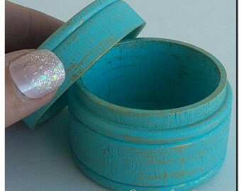 Blue Favor box, ring box,