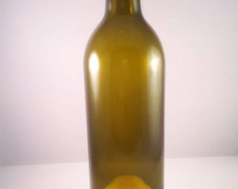Wine bottle hurricane lamp