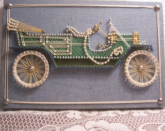 Vintage Convertible String Art Picture