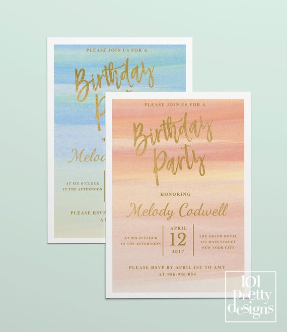 Like This Item?  Birthday Invitation Template Printable