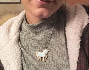 Unicorn/unicorn cookie biscuit necklace necklace