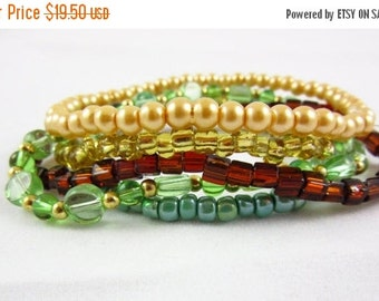 SALE Stackable Bracelet Set Handmade Stacking Bracelets Custom Size Stack Bracelets Set of 5
