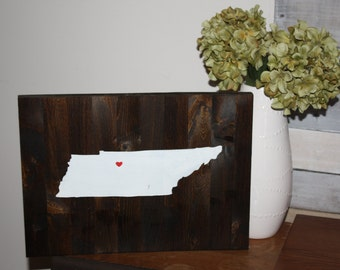 Wood Sign Tennessee State Sign State Sign Custom Sign