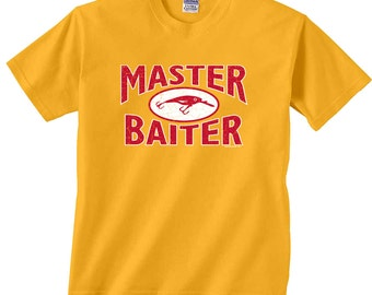 Master Baiter Lure Funny Fishing T-Shirt F