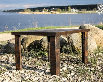 "Reclaimed wood coffee table ""Milda"""