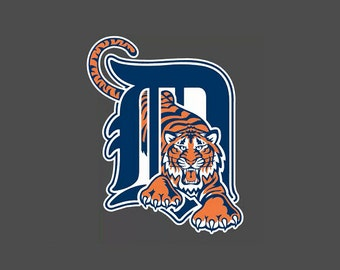 Full Color Detroit Tigers - Die Cut Decal/Sticker