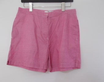Vintage 80s daisy dukes hot pants shorts by St Bernard red white gingham checked  size medium large