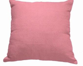Plain Linen Cushion- Salmon Pink Cushion- Plain Cushion- Pink Pillow- Plain Pillow- Pink Throw Pillow- Pink Linen Cushion- Cushion Cover