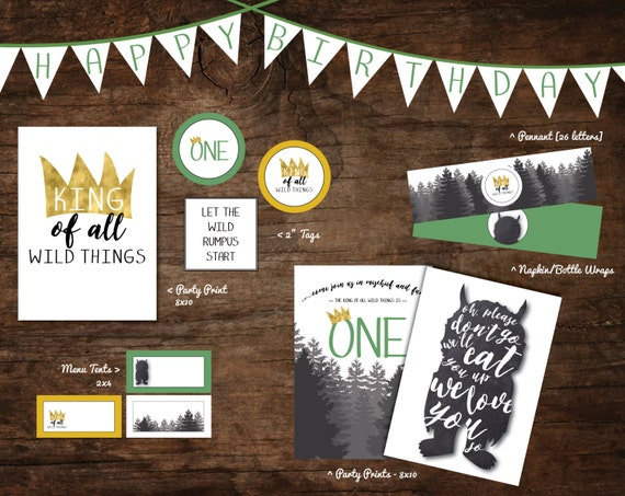 where the wild things are party printables wild by ...