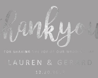Custom Printable Thank you Card