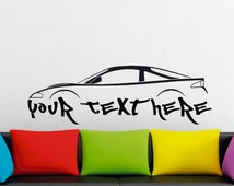 Large Custom car silhouette wall sticker - for Mitsubishi Eclipse GS-T, 2G (without wing)