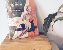 60s VINTAGE Stockings / NYLONS - 15 Denier - by Plaza - DOUBLE Pack (item:176A)