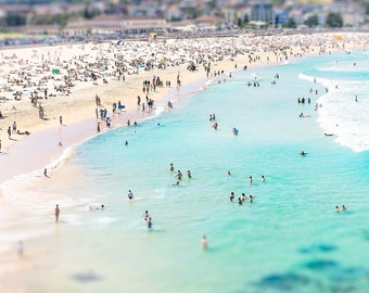Aerial Beach Photo, Beach Print, Beach Photography, Bondi Beach, Wall Art, Ocean Decor, Seascape Print, Large Wall Art, Beach Poster, Bondi