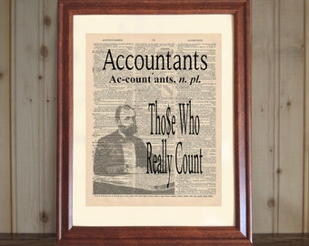 Accountant Dictionary Print, Accountant Quote, CPA Office Decor, Gift for CPA, Accountant Gift, Accountants Print 5x7 or 8x10 Canvas Panel