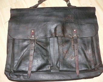 beautiful vintage 1930s leather briefcase