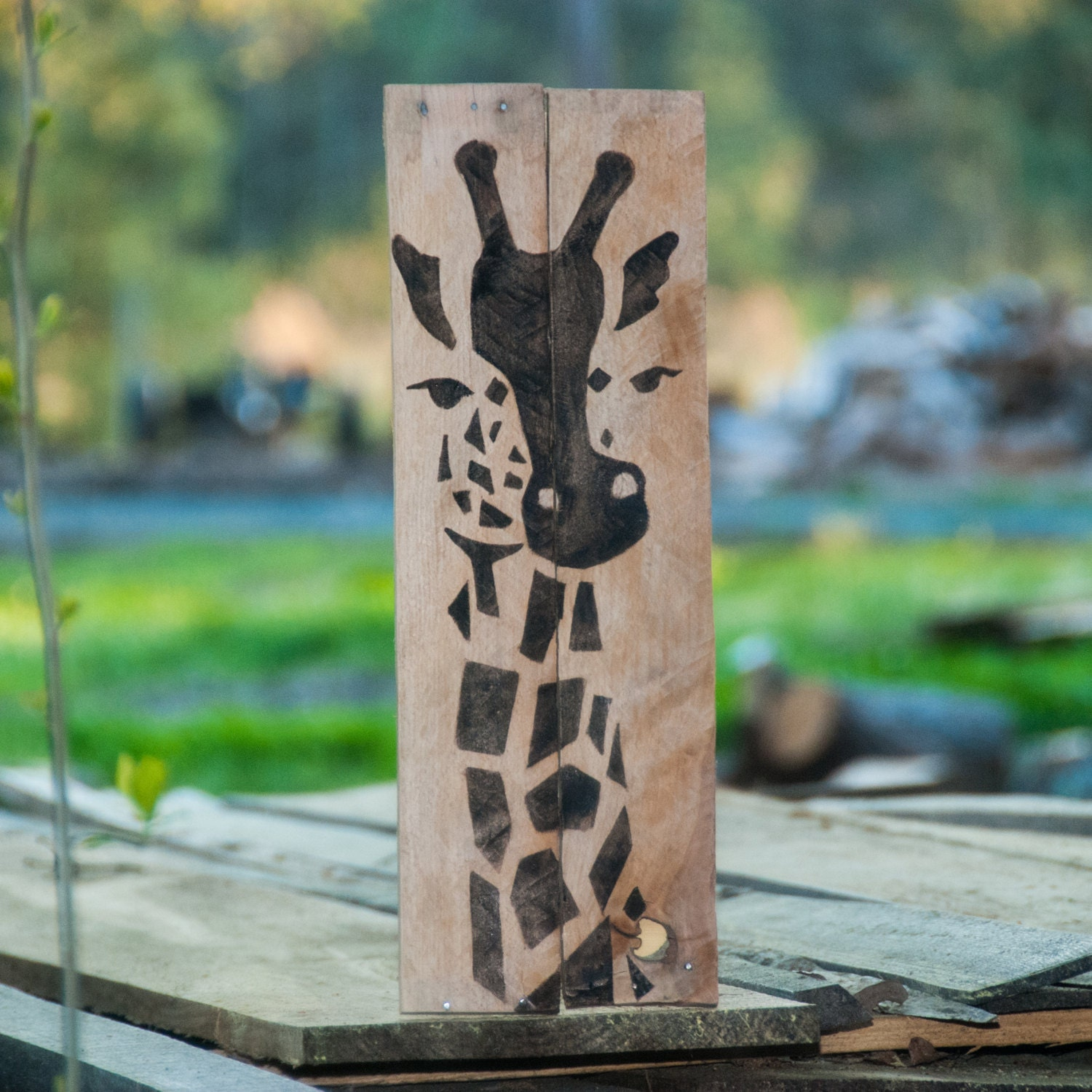 giraffe print giraffe home decor safari decor giraffe art
