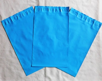 """25 - 12x15.5"""" Poly Mailers in Cool Breeze Blue Self Sealing Envelopes as a light weight shipping envelope bag"""