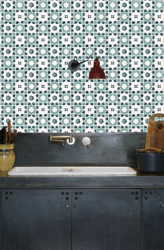 Clearance Tiles For Kitchen Bathroom Back Splash Floor Decals Moroccan Taza