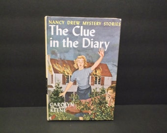 "Nancy Drew Mystery Stories - ""The Clue In The Diary"" by Carolyn Keene, circa 1960's"