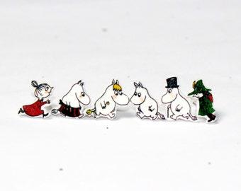 Moomins on the Run Earrings (Set of 6)