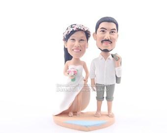 Personalize wedding cake topper, unique cake topper for wedding , funny wedding topper, wedding bobblehead topper for couple
