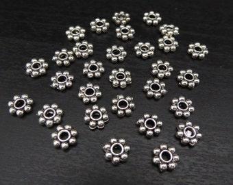 Spacer Bead Filigree 30 Pieces - Silver (SBFB:SL)