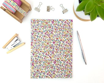 A5 writing journal, hardback notebook, pretty stationery, work book